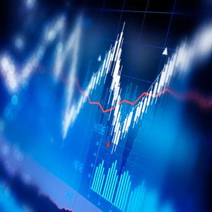 Graphique représentant l'évolution du cours d'un actif boursier.